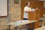 Darren Bayhi making his presentation