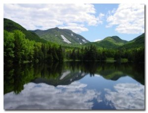 Lake Placid. New York State. Reflections on Life