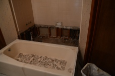 The tub removed from the wall